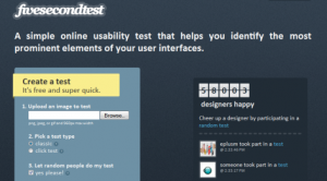 Five Second Test Tool - usability testing