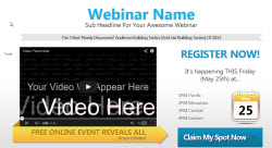 Sample of Webinar Squeeze Page